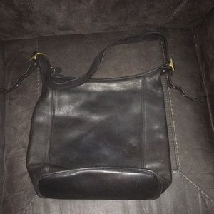 Coach Black Legacy Hobo Bucket Bag